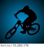 Купить «Mountain biker», фото № 10280178, снято 18 июля 2018 г. (c) PantherMedia / Фотобанк Лори