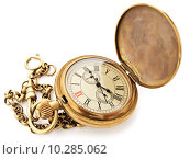 Купить «vintage pocket clock», фото № 10285062, снято 21 октября 2018 г. (c) PantherMedia / Фотобанк Лори