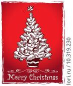 Купить «Christmas tree stylized drawing 2», иллюстрация № 10319230 (c) PantherMedia / Фотобанк Лори