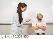 Купить «Teacher punishing the bold student», фото № 10331850, снято 7 июля 2015 г. (c) Wavebreak Media / Фотобанк Лори