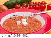 Купить «food hispanic vegetable spanish soup», фото № 10344482, снято 18 июля 2019 г. (c) PantherMedia / Фотобанк Лори