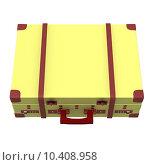 Купить «View suitcase with red spots and handle», фото № 10408958, снято 22 июля 2019 г. (c) PantherMedia / Фотобанк Лори