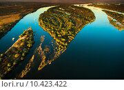 Zambezi river from the air. Стоковое фото, фотограф Eric Schmiedl / PantherMedia / Фотобанк Лори