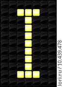 Купить «Vector illustration of single scoreboard letter icon », иллюстрация № 10439478 (c) PantherMedia / Фотобанк Лори