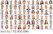 Купить «collage with many business people portraits», фото № 10450646, снято 19 августа 2019 г. (c) Syda Productions / Фотобанк Лори