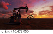 Купить «Oil field at  sunset», фото № 10478050, снято 3 июля 2018 г. (c) PantherMedia / Фотобанк Лори