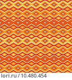 Купить «Orange seamless pattern with geometric motifs», иллюстрация № 10480454 (c) PantherMedia / Фотобанк Лори