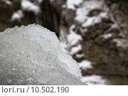 Купить «Closeup of water dripping on frozen drops of ice», фото № 10502190, снято 23 июля 2019 г. (c) PantherMedia / Фотобанк Лори