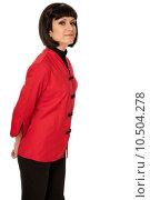 Купить «woman in Chinese dress on fashion week in Paris», фото № 10504278, снято 19 июня 2019 г. (c) PantherMedia / Фотобанк Лори