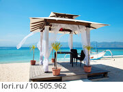 Купить «Beach weddings pavillion in Gili islands», фото № 10505962, снято 14 августа 2018 г. (c) PantherMedia / Фотобанк Лори
