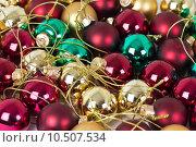 Купить «Colourful glass boubles ready to put on a christmas tree», фото № 10507534, снято 15 декабря 2018 г. (c) PantherMedia / Фотобанк Лори