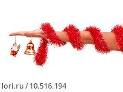 Купить «Christmas-tree bell in the hand», фото № 10516194, снято 16 июня 2019 г. (c) PantherMedia / Фотобанк Лори