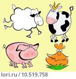 Купить «Farm animals», иллюстрация № 10519758 (c) PantherMedia / Фотобанк Лори