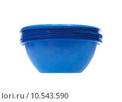 Купить «A disposable bowl isolated against a white background», фото № 10543590, снято 15 октября 2019 г. (c) PantherMedia / Фотобанк Лори