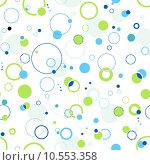 Купить «Green and blue seamless dots and circle pattern», фото № 10553358, снято 22 июля 2019 г. (c) PantherMedia / Фотобанк Лори