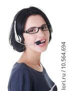 Купить «Attractive customer support representative», фото № 10564694, снято 16 февраля 2019 г. (c) PantherMedia / Фотобанк Лори