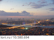 Купить «Istanbul Turkey Bosporus Bridge», фото № 10580694, снято 22 июля 2018 г. (c) PantherMedia / Фотобанк Лори