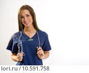 Купить «Vibrant Nurse», фото № 10591758, снято 23 апреля 2019 г. (c) PantherMedia / Фотобанк Лори