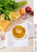 Купить «French onion soup», фото № 10597182, снято 18 июля 2019 г. (c) PantherMedia / Фотобанк Лори