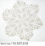 Купить «Crocheted lace on white», фото № 10597618, снято 21 июля 2015 г. (c) Ярочкин Сергей / Фотобанк Лори