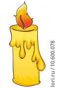 Купить «Illustration of a simple candle», иллюстрация № 10600078 (c) PantherMedia / Фотобанк Лори