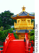 Купить «Pavilion of Absolute Perfection in the Nan Lian Garden, Hong Kong. », фото № 10602794, снято 20 октября 2018 г. (c) PantherMedia / Фотобанк Лори