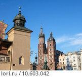Купить «View at St. Mary's Church, famous landmark in Krakow, Poland. », фото № 10603042, снято 19 марта 2019 г. (c) PantherMedia / Фотобанк Лори