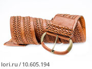 Купить «Leather women belts», фото № 10605194, снято 19 декабря 2018 г. (c) PantherMedia / Фотобанк Лори