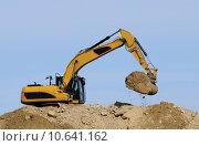 Купить «scoop construction site dredger baggern», фото № 10641162, снято 20 марта 2019 г. (c) PantherMedia / Фотобанк Лори