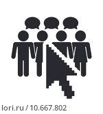 Купить «Vector illustration of  isolated social network icon», иллюстрация № 10667802 (c) PantherMedia / Фотобанк Лори
