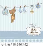 Купить «Baby shower invitation card», иллюстрация № 10696442 (c) PantherMedia / Фотобанк Лори