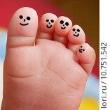 Купить «Nice foot of a baby », фото № 10751542, снято 25 июня 2019 г. (c) PantherMedia / Фотобанк Лори