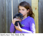 Купить «children girl kissing her puppy chihuahua doggy», фото № 10760174, снято 16 июня 2019 г. (c) PantherMedia / Фотобанк Лори