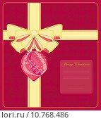 Купить «Christmas Framework style with bauble card», иллюстрация № 10768486 (c) PantherMedia / Фотобанк Лори