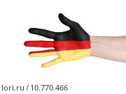 Купить «a german hand», фото № 10770466, снято 22 июля 2019 г. (c) PantherMedia / Фотобанк Лори