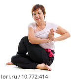 Купить «Asian senior woman practicing yoga», фото № 10772414, снято 24 июня 2019 г. (c) PantherMedia / Фотобанк Лори