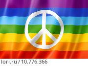 Купить «Rainbow peace flag», иллюстрация № 10776366 (c) PantherMedia / Фотобанк Лори