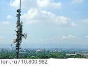 telecommunication antenna. Стоковое фото, фотограф anan kaewkhammul / PantherMedia / Фотобанк Лори