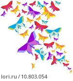Купить «Origami butterfly color splash», иллюстрация № 10803054 (c) PantherMedia / Фотобанк Лори