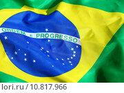 Купить «Waving Fabric Brazil Flag», фото № 10817966, снято 22 июля 2019 г. (c) PantherMedia / Фотобанк Лори