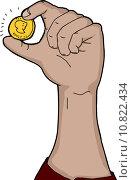 Купить «Hand Holding Coin», иллюстрация № 10822434 (c) PantherMedia / Фотобанк Лори