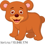 Купить «Cute baby bear cartoon», иллюстрация № 10848174 (c) PantherMedia / Фотобанк Лори
