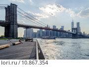Купить «Brooklyn Bridge», фото № 10867354, снято 21 февраля 2018 г. (c) PantherMedia / Фотобанк Лори