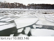 Купить «floating of ice on river at early spring evning», фото № 10883146, снято 24 августа 2019 г. (c) PantherMedia / Фотобанк Лори