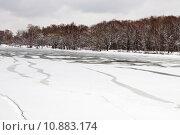 Купить «unfrozen patch of water in  icebound river», фото № 10883174, снято 19 июля 2019 г. (c) PantherMedia / Фотобанк Лори