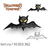 Купить «Halloween monsters spooky vampire bat illustration EPS10 file», иллюстрация № 10923362 (c) PantherMedia / Фотобанк Лори