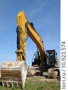 Купить «scoop construction site dredger baggern», фото № 10923574, снято 20 марта 2019 г. (c) PantherMedia / Фотобанк Лори