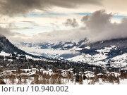 Купить «Aerial View on Ski Resort Megeve in French Alps, France», фото № 10940002, снято 16 июля 2019 г. (c) PantherMedia / Фотобанк Лори