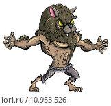 Купить «Cartoon werewolf with teeth and claws», иллюстрация № 10953526 (c) PantherMedia / Фотобанк Лори