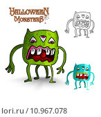 Купить «Halloween monsters four legs freak EPS10 file.», иллюстрация № 10967078 (c) PantherMedia / Фотобанк Лори